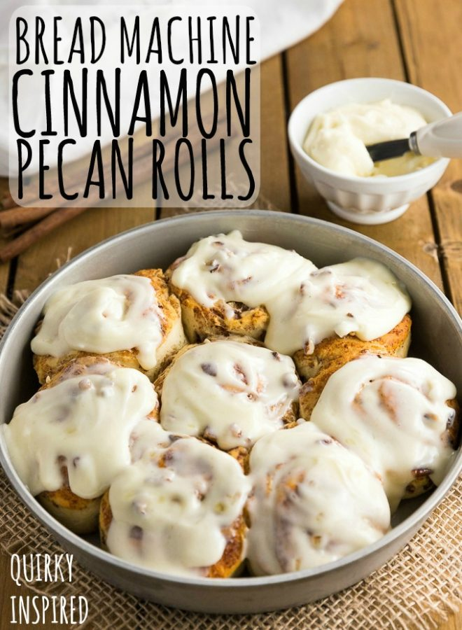 This bread machine cinnamon rolls recipe is great way to start your morning!