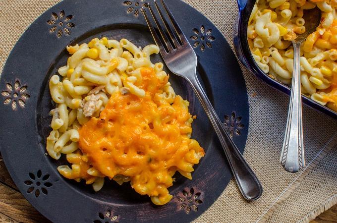 Tuna Noodle Casserole with Corn