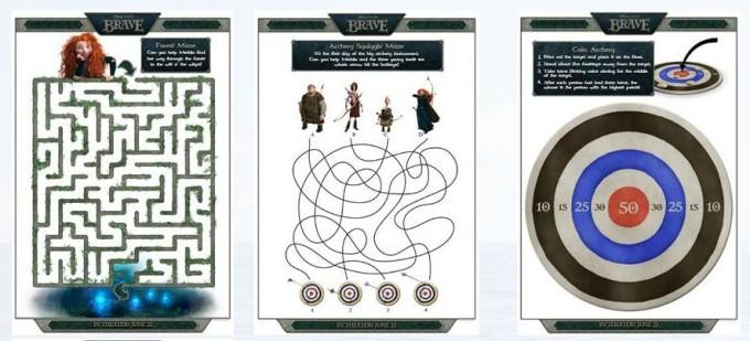 Brave Activity Sheets: Join Merida on her Adventures in the Disney/Pixar Film Brave