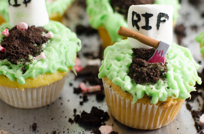 These great spooky Halloween cupcakes are easy to make, and fun to serve your guests!