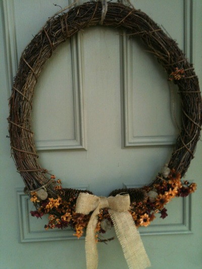 How to Do it Yourself: Frugal Fall Wreath!