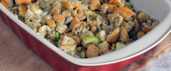 Easy Homemade Stuffing. It's easy to make and delicious! They'll only think you slaved away at the stove for days!