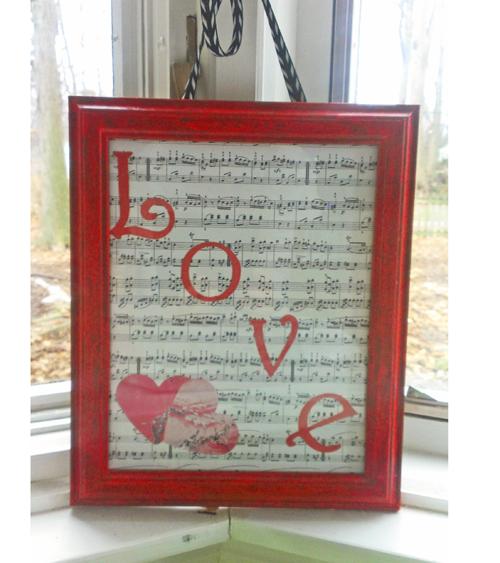 Valentine's Day Crafts: Upcycled Photo Frame