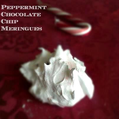 Pepperminti Chocolate Chip Meringue Cookies