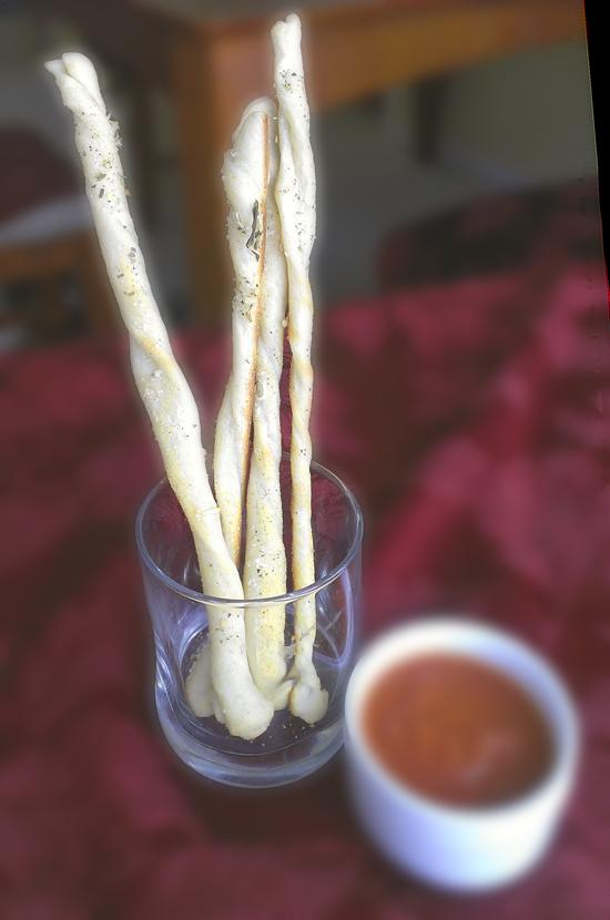Italian Herb Garlic Parmesan Twists!