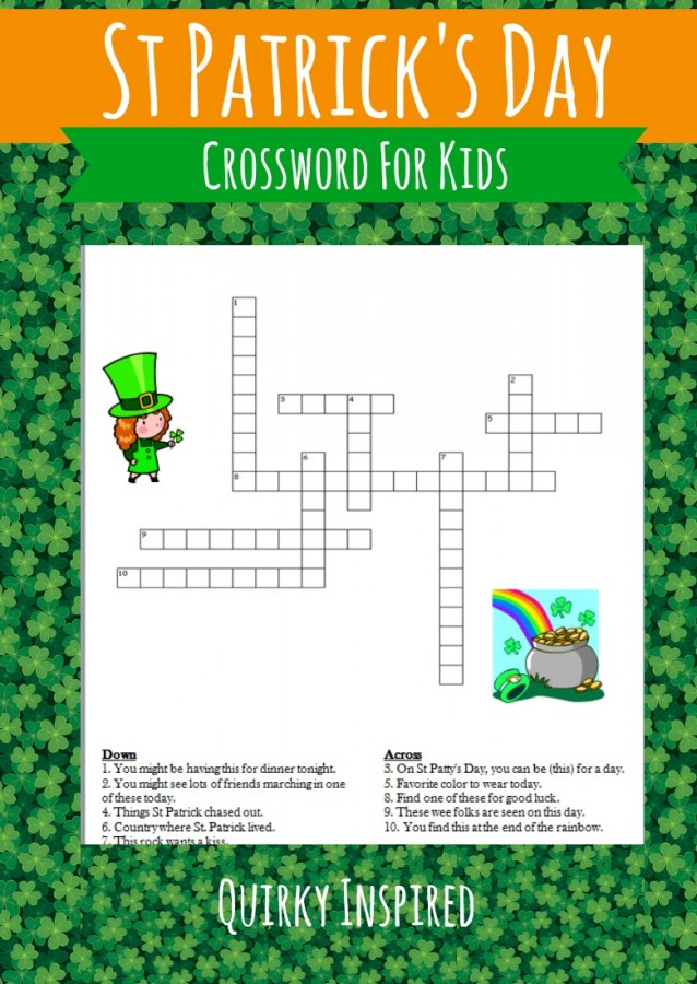 St Patricks Day Printables are a fun and frugal way to celebrate the day. This St Patricks Day crossword for kids helps even the littlest leprechuan get into the spirit.