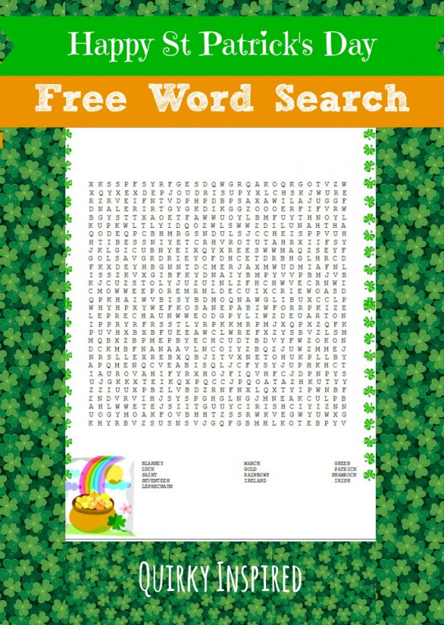 Accomplished image for st patrick day puzzles printable free