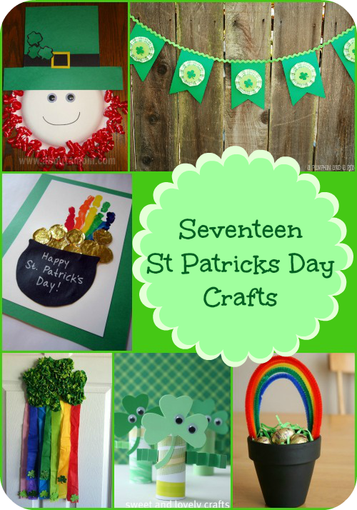 How cute are these 17 St Patricks Day Crafts?