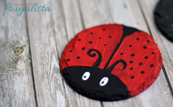 Camping Crafts For Kids Ladybug Coasters
