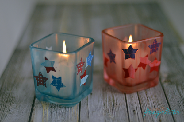 Fourth of July Candle Holders