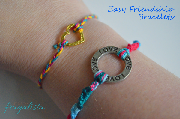 Easy kids camping crafts friendship bracelets for Easy crafts to make for friends