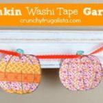 Pumpkin Washi Tape Garland
