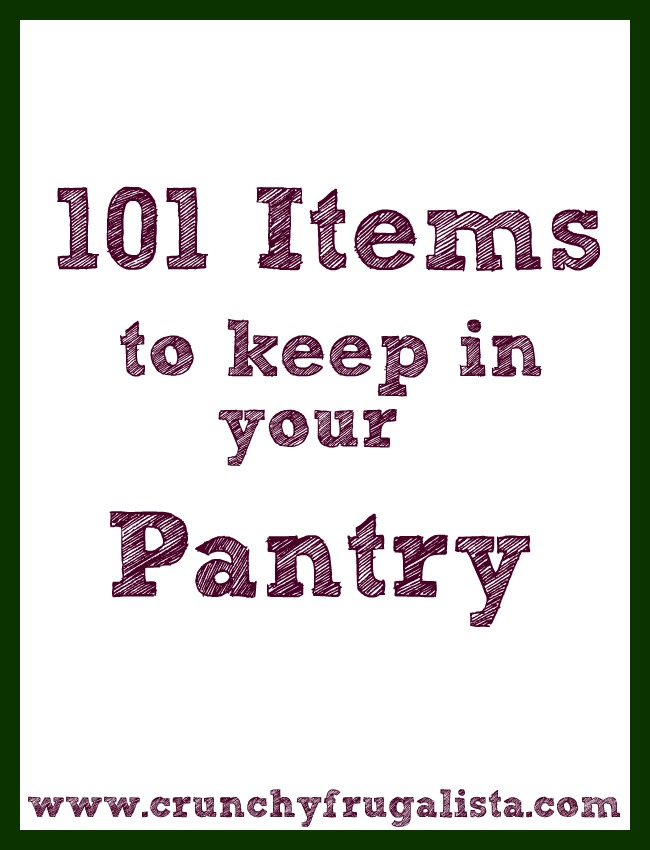 Things to keep in your pantry
