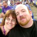 Hubby and I at the Vikings game
