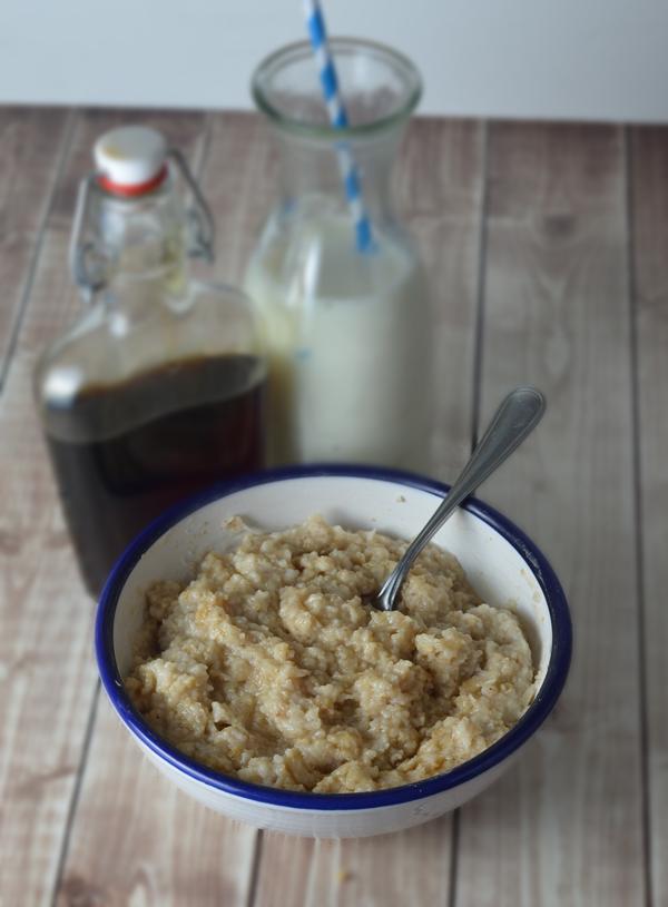 Homemade Maple and Brown Sugar Oatmeal