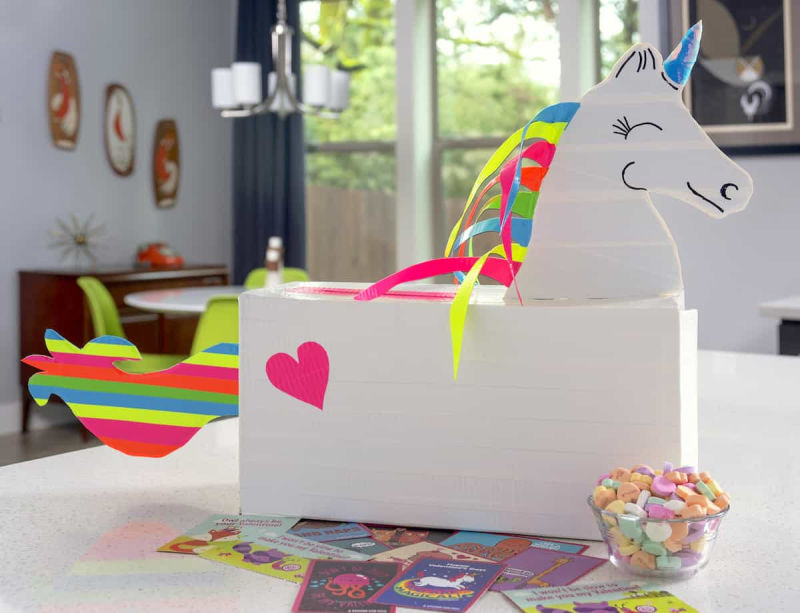 This unicorn valentine box is just one of the awesome Valentine Mailbox and Valentine Crafts in this post!