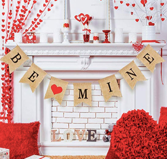 This Valentine Banner is the cutest to get your house in the Valentine's Spirit. This post has tons of more Valentine's Home Decor ideas!
