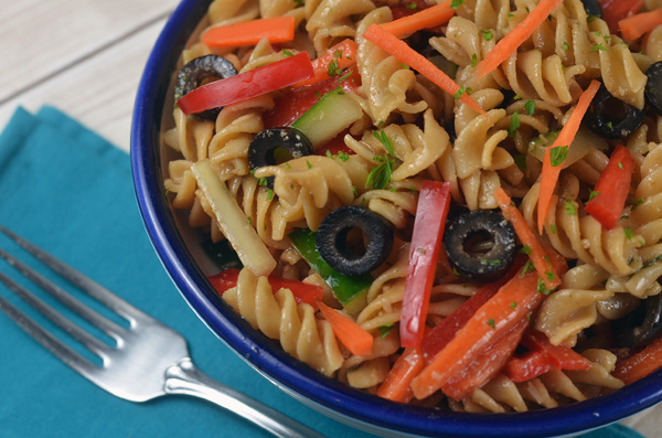 Easy Italian Pasta Salad Punched With Flavor