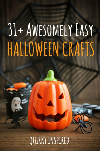 Is Halloween crafts something you love to do? Check out these 31+ Awesomely easy Halloween crafts