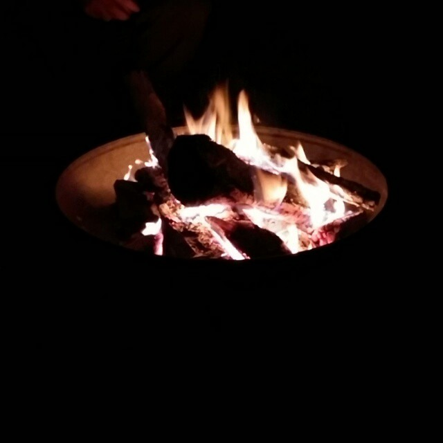 This is how we are spending our #halloween #campfire #wine #goodcompany #thingsthatrock