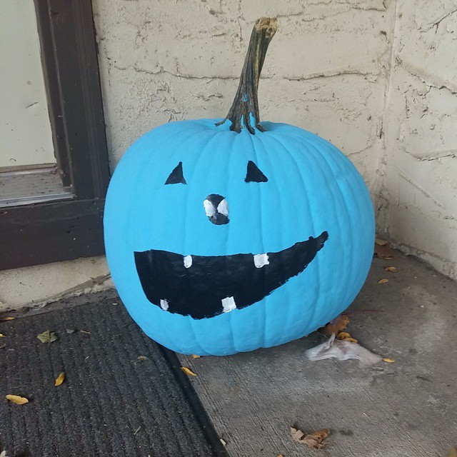 Our #pumpkin is ready for #halloween. #Tealpumpkinproject #foodallergies