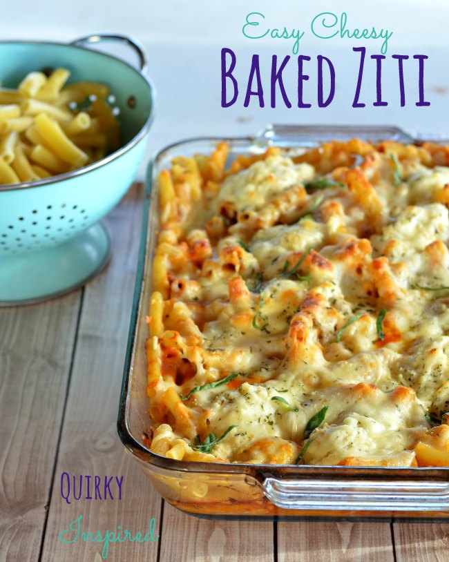 crazy easy baked ziti italian herb baked chicken and sesame sauteed ...