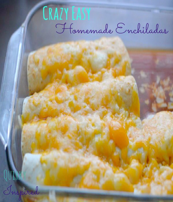 These freezer meal recipes, like these homemade enchiladas, make weeknight dinners easy!