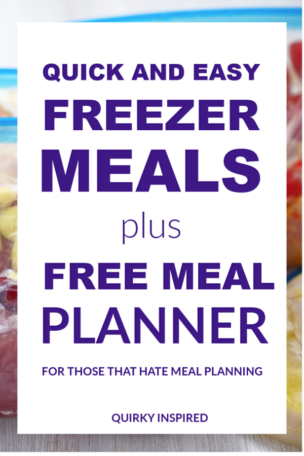 If you are tired of not wanting to cook, pin these easy freezer meal recipes and free meal planner (Especially for those that hate meal planning!)