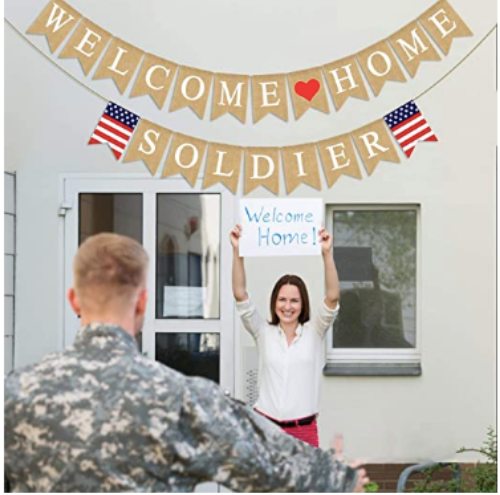 Welcome Home Military Sign