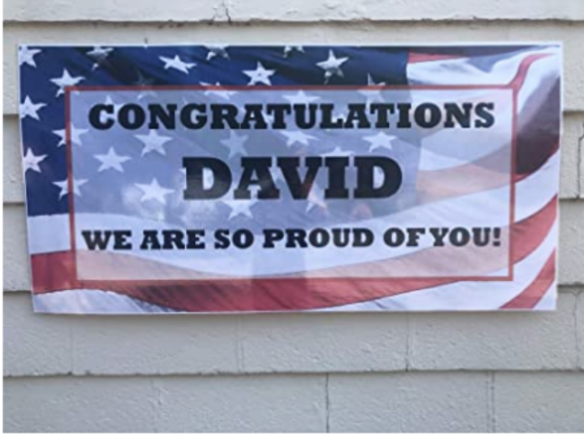 Personalized Welcome Home Military sign
