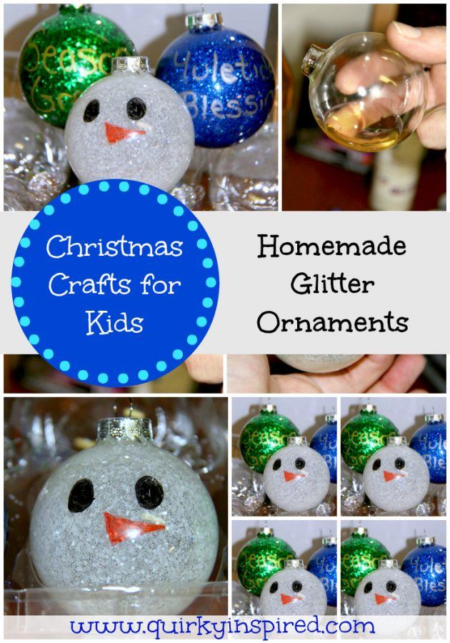 Christmas Crafts for Kids: Glitter Ornaments