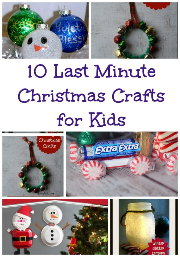 Last Minute christmas crafts for kids
