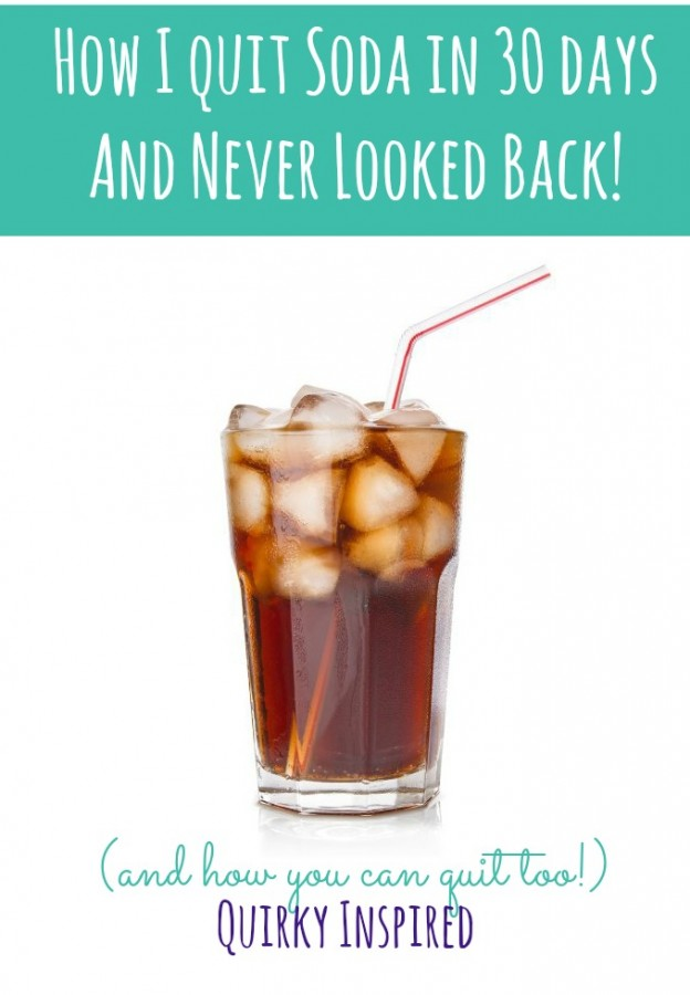 Really wanting to learn how to quit drinking soda? Find out how I quit drinking soda in 30 days and never looked back!