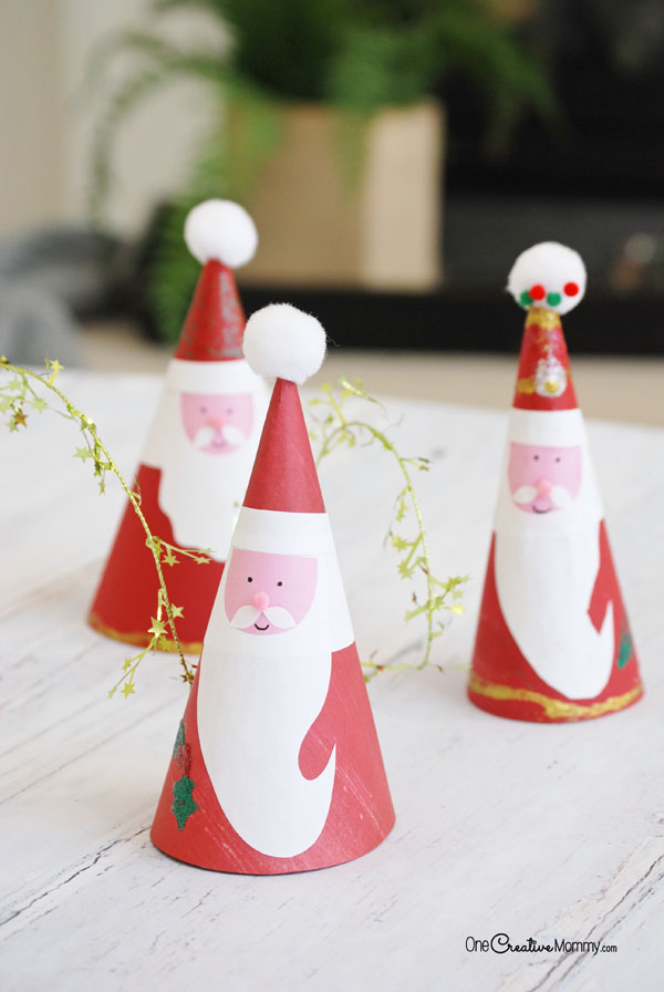 Looking for last minute Christmas crafts for kids? These easy Santa Claus kids crafts are perfect!