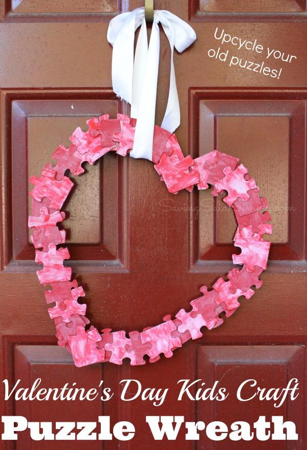 Valentines-kids-craft-puzzle-wreath