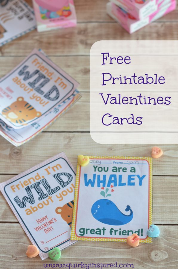 Adorable Free printable valentines cards for your child's class.
