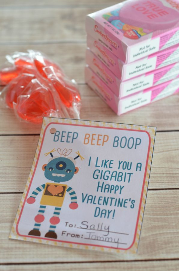 This is a photo of Handy Printable Valentine Cards for Classmates