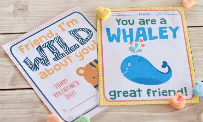 Free Printable Valentines Cards for Kids!