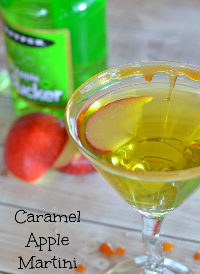 This caramel apple martini is one easy martini recipe, and it's so good you'll lick the glass