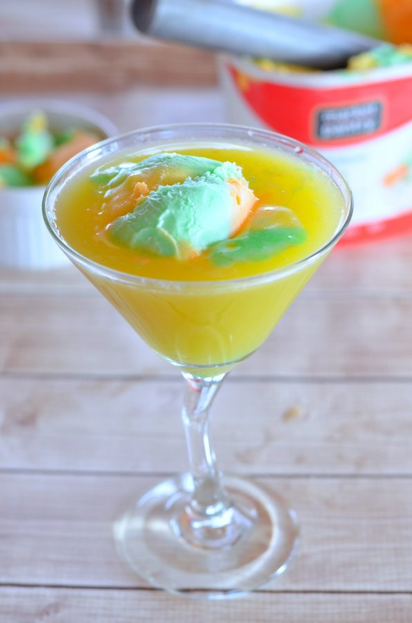 Martini drink recipes like this rainbow sherbert martini are why I love alcohol