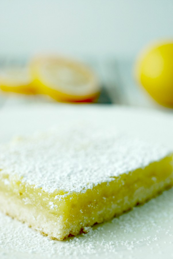 These homemade lemon bars are one of my favorite dessert bars ever.