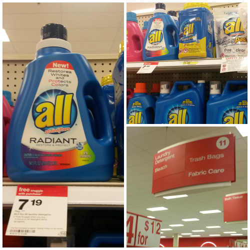 all Radiant detergent can be found at your local Target store! #Radiantlaundry #ad