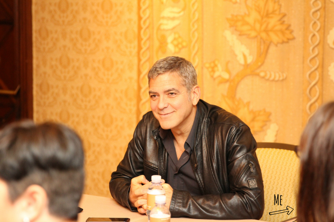 Photo proof how close I was sitting to George Clooney at the Tomorrowland Press Junket