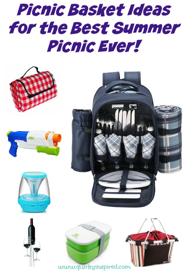 Have no clue what to put in your picnic basket? Check out these easy picnic basket ideas for the best summer picnic ever!