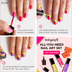 bright and easy nail art tutorial