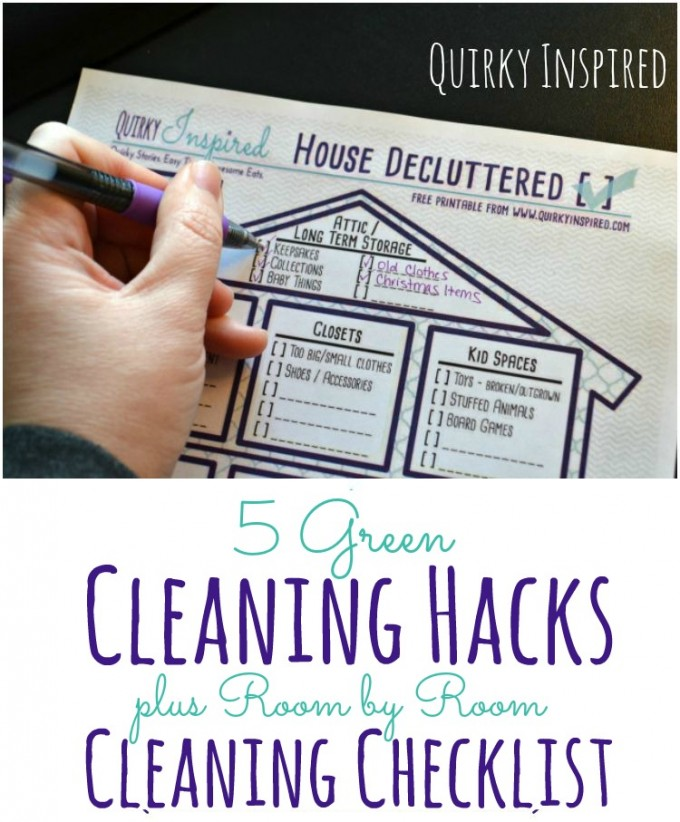 Green cleaning hacks are an awesome way to safely clean your home, plus you get a room by room spring cleaning checklist too!