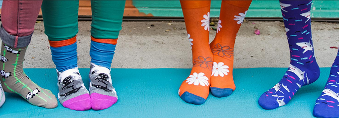 Another frugal way to pamper yourself? Quirky socks!
