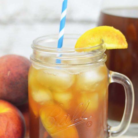 Homemade Peach Iced Tea Recipe