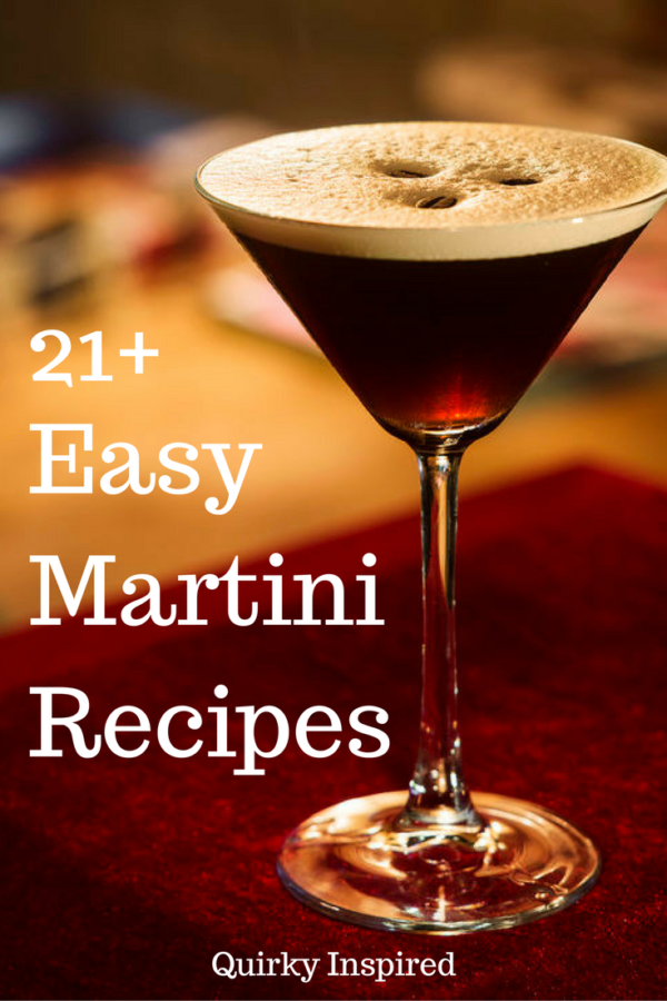 If you love martinis, then you need to read this post! 19+ easy martini recipes that are deliciously evil! Click here to check out the recipes!