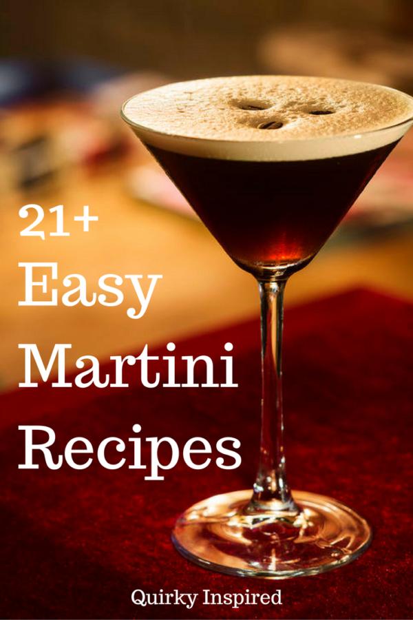 Deliciously easy martini recipes including dessert martinis; vodka martinis; and classic Martini recipes!